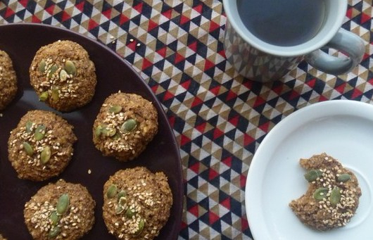 Petits biscuits à l'okara gingembre/cannelle
